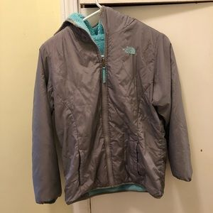 Girl Reversible North Face Jacket!